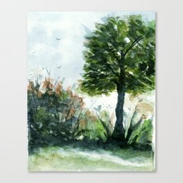 A Lovely Day, Abstract Landscape Art Canvas Print
