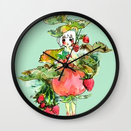 Picking Straberry採草莓 Wall Clock