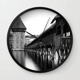 The Chapel Bridge Monochrome Wall Clock