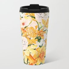 Wordsworth  and daffodils. Metal Travel Mug