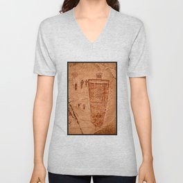 Great Gallery Pictograph Close-up Canyonlands National Park - Utah Unisex V-Neck