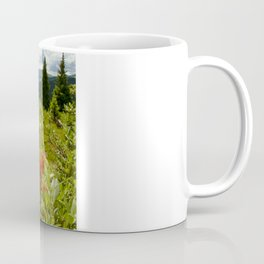 Red paintbrush with mountain view Coffee Mug