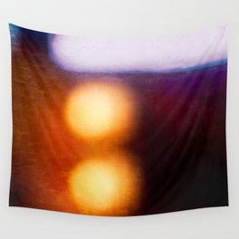 Abstract Composition In The Neon Light Wall Tapestry