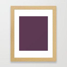 Dark Byzantium -solid color Framed Art Print