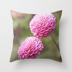 Chrysanthemums in Afternoon Light Throw Pillow
