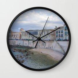 Syracuse Waterfront Wall Clock