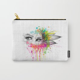 Beautiful Flower Eyes Carry-All Pouch