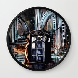 Doctor Who Art Painting Wall Clock