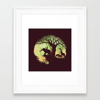 jungle Framed Art Prints featuring The jungle says hello by Picomodi