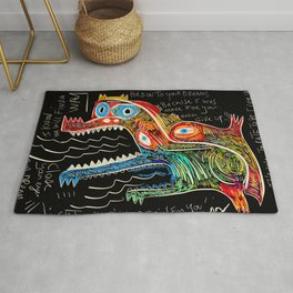 Hold on to your dreams Street Art Graffiti Rug