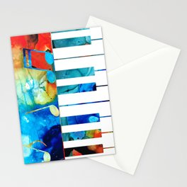 Colorful Piano Art by Sharon Cummings Stationery Cards
