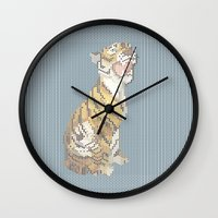 grumpy Wall Clocks featuring Grumpy by Mr. Morris can Meow!