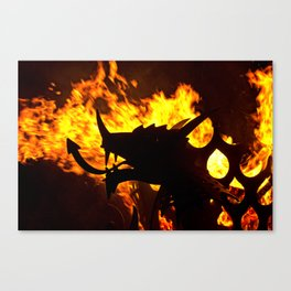 Silhouette Of The Dragon Canvas Print