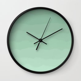 Layers of Mint Green Wall Clock