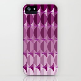 Leaves at midnight - a pattern in aubergine iPhone Case