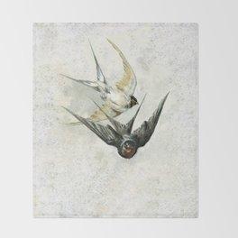Vintage Soaring Birds Throw Blanket
