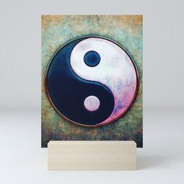 Yin Yang - Scratchy Painting Design Mini Art Print