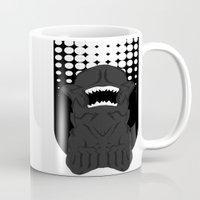 xenomorph Mugs featuring Xenomorph Chestburster (PredAlien) by XrayAlpha