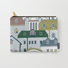 Architecture in Neighborhood | Burnt Sienna Carry-All Pouch