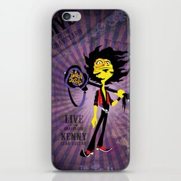 Kenny - Guitar. The Twitch Doctors iPhone Skin
