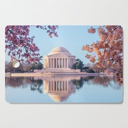 Cherry Blossoms at Jefferson Memorial in Washington DC Cutting Board