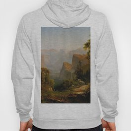 View Of The Yosemite Valley In California 1865 By Thomas Hill | Reproduction Hoody