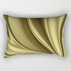 Abstract Fractal Colorways 02 Simple Gold Rectangular Pillow