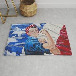 Rosie the Riveter Rug