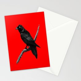 Decorative Chinese Red Black Crow Design Stationery Cards