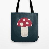 mushroom Tote Bags featuring mushroom by Emma S