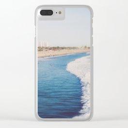 Beach Day at Santa Monica Clear iPhone Case