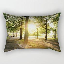 Sunshine through the Trees at Flushing Meadows Park Rectangular Pillow