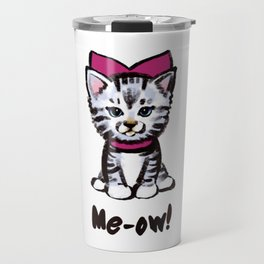 Festive kitty Travel Mug
