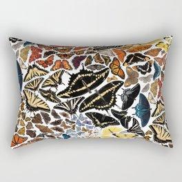 Butterflies of North America Pattern Rectangular Pillow