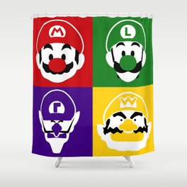 THE MOUSTACHED FOUR Shower Curtain