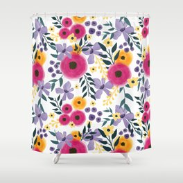 Spring Floral Bouquet Shower Curtain