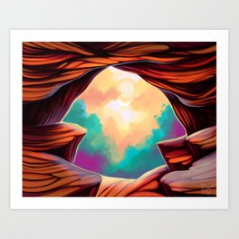 The Canyon Art Print