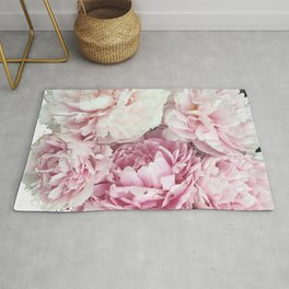 A bunch of peonies Rug