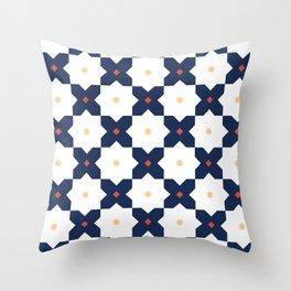 Blue & Yellow Bold Geometric Pattern Throw Pillow