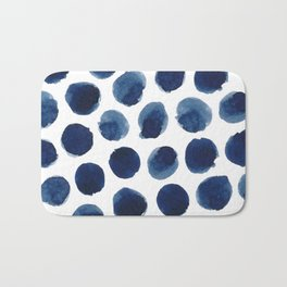 Watercolor polka dots Bath Mat