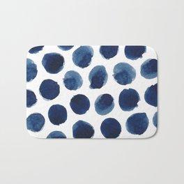Watercolor polka dots Bath Mat