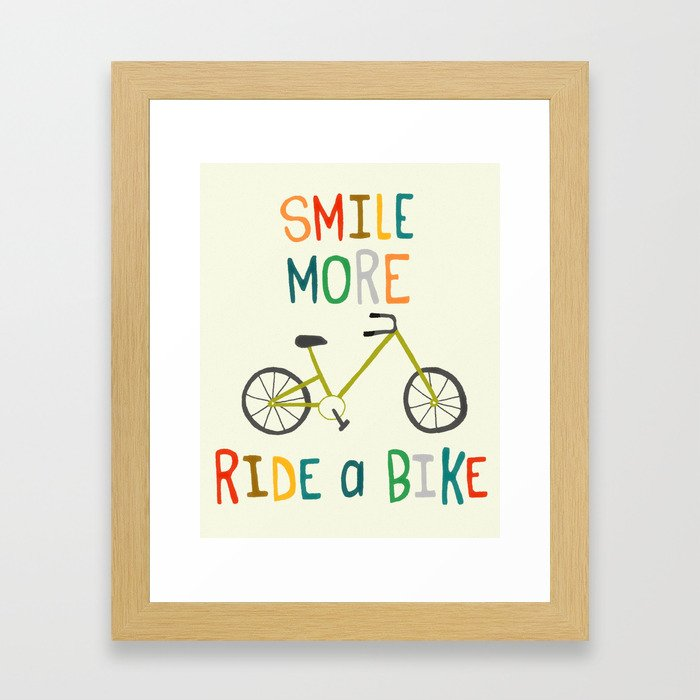 Ride A Bike Framed Art Print
