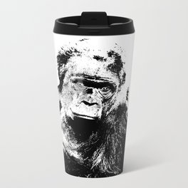 Gorilla In A Pensive Mood Portrait #decor #society6 Travel Mug