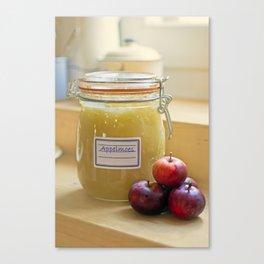 Home made apple sauce Canvas Print