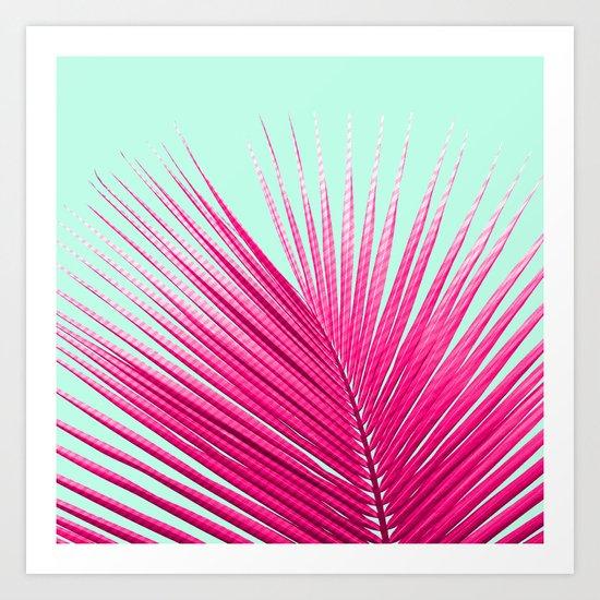 Pink Candy Cane Palm Art Print