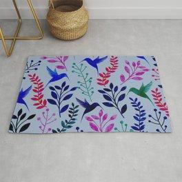 Watercolor Floral & Birds Rug