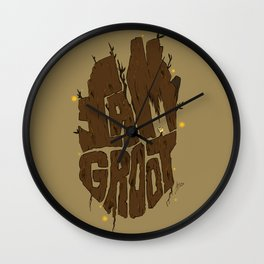 I Am Groot Wall Clock