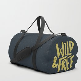 Wild and Free x Gold and Navy Duffle Bag