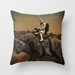 Horse Back Riding In The Desert Throw Pillow