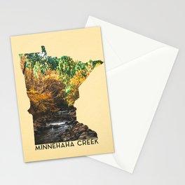 Minnehaha Creek Minnesota Map Stationery Cards